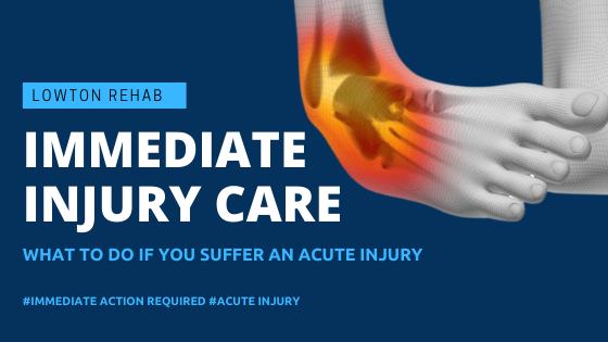 Acute Injury Management help guide – What to do if you get injured?